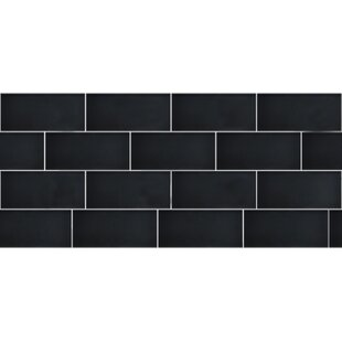 Secret Dimensions 3 X 6 Gl Subway Tile In Frosted Dark Gray