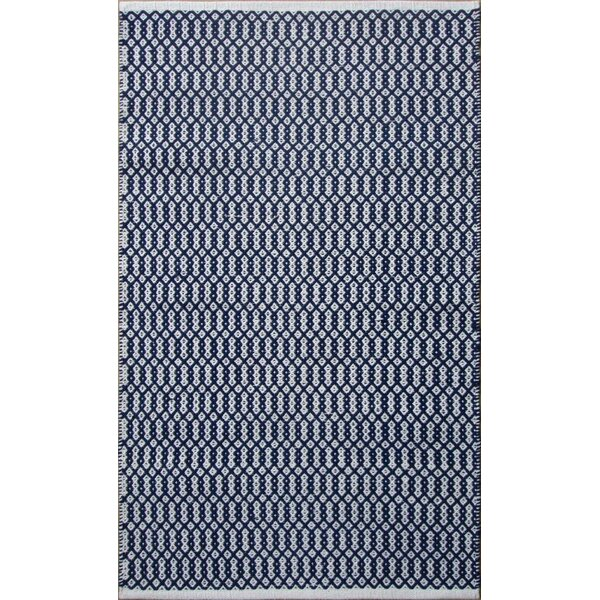 Parker Hand-Woven Blue Area Rug by Rosecliff Heights