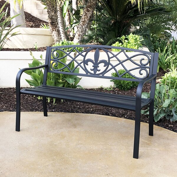 Eile Steel Park Bench by Fleur De Lis Living