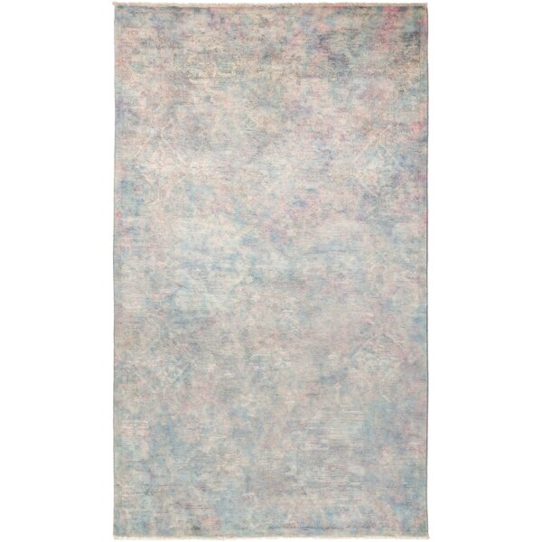 One-of-a-Kind Pritt Hand Knotted Wool Gray Area Rug by One Allium Way