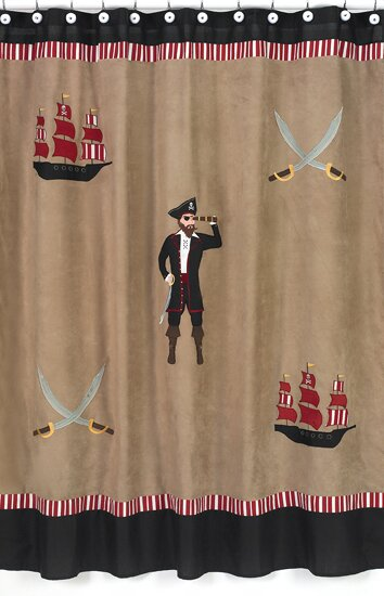 Pirate Treasure Cove Shower Curtain by Sweet Jojo Designs