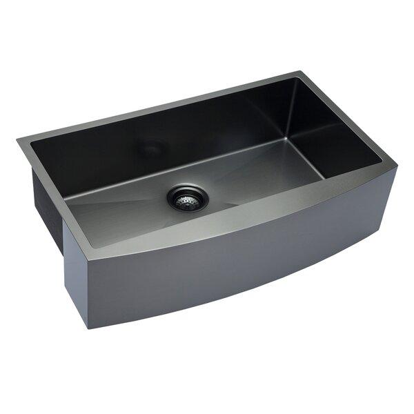 30 L x 21 W Farmhouse Kitchen Sink with Basket Strainer