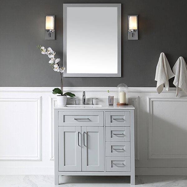 Tahoe 36 Single Bathroom Vanity Set with Mirror by Ove Decors