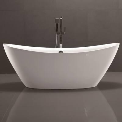 "carver tubs hygienic 72"" x 42"" soaking bathtub   wayfair"