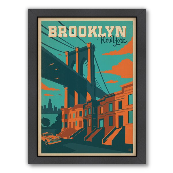 NYC Brooklyn Framed Vintage Advertisement by East Urban Home