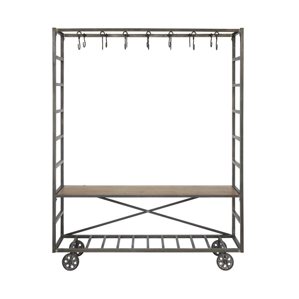 Metal Cart and Bench Stoarge Rack by Creative Co-Op