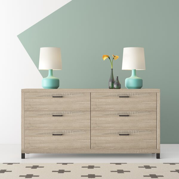 Ari 6 Drawer Double Dresser by Hashtag Home