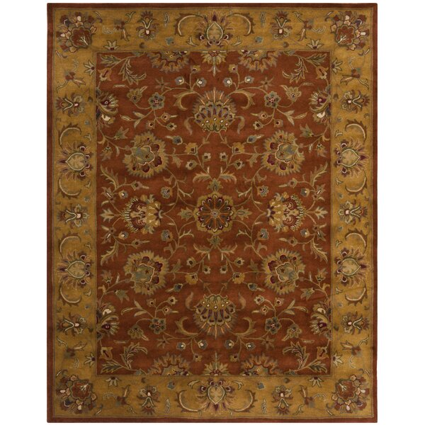 Balthrop Brown/Yellow/Brick Red Area Rug by Astoria Grand
