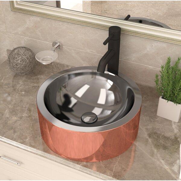 Titan Metal Circular Vessel Bathroom Sink by ANZZI