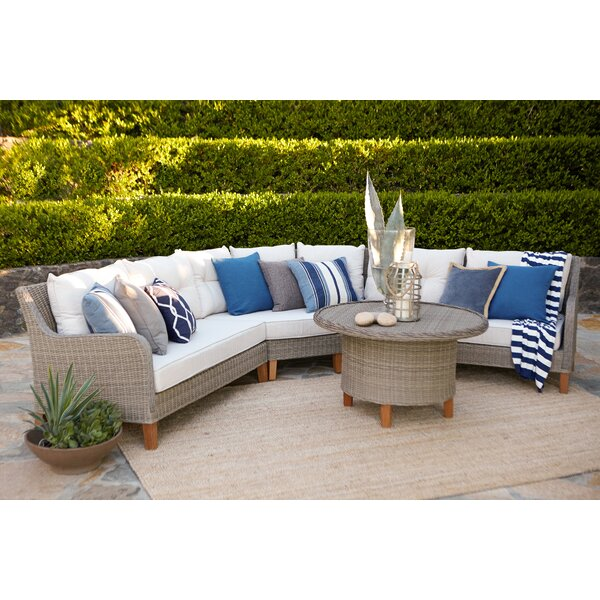 Ferne 4 Piece Rattan Sectional Seating Group with Cushions by Laurel Foundry Modern Farmhouse