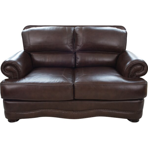 Eldora Leather Loveseat by Darby Home Co