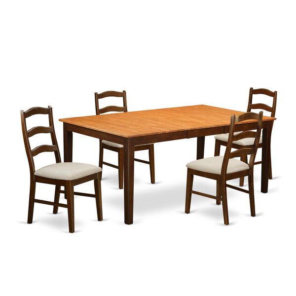 Burner 5 Piece Extendable Solid Wood Dining Set by Red Barrel Studio