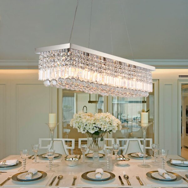 Briaca 5 - Light Unique Rectangle Chandelier by Rosdorf Park Rosdorf Park