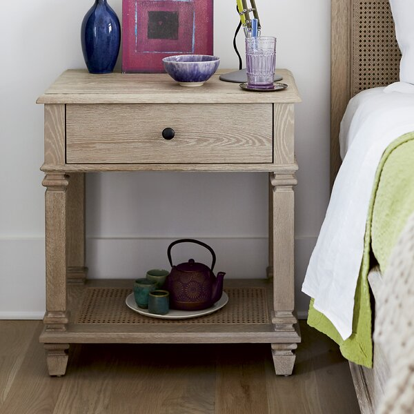 Justice 1 Drawer Nightstand by Longshore Tides Longshore Tides