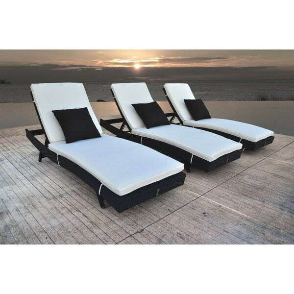 Zori Chaise Lounge with Cushion (Set of 3) by Solis Patio