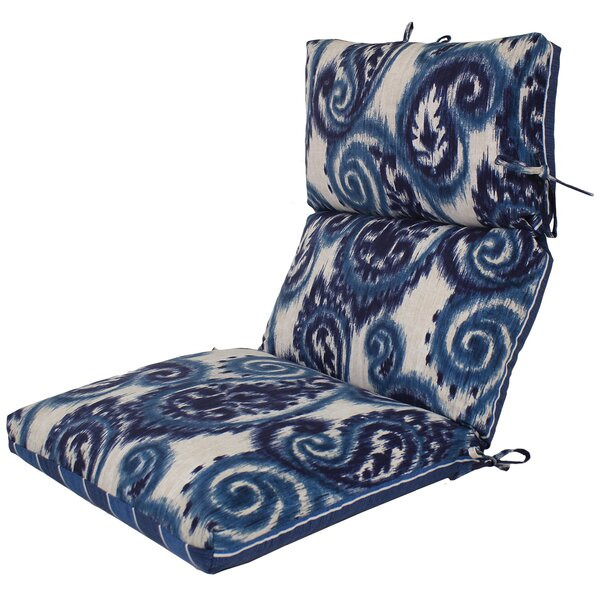 Channeled Reversible Indoor/Outdoor Lounge Chair Cushion (Set of 4) by Comfort Classics Inc.
