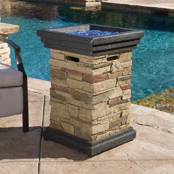 Mcanally Stone Propane Fire Column by Red Barrel Studio
