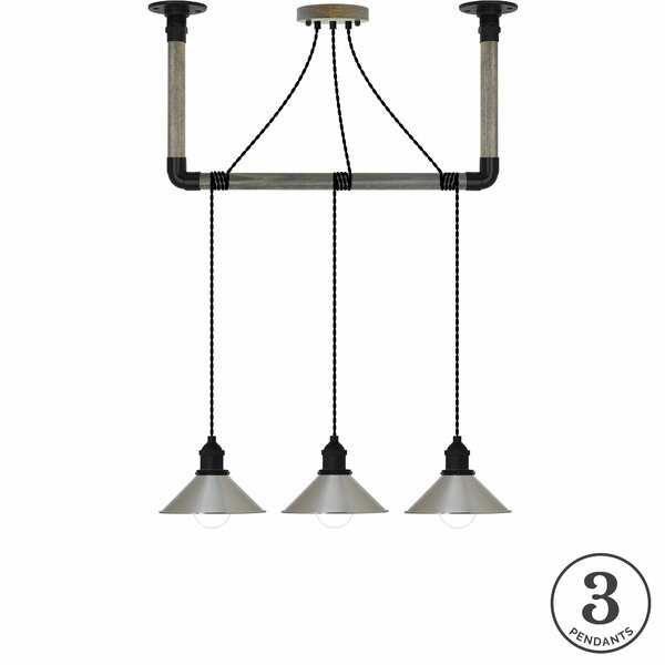 Clementine 3-Light Kitchen Island Pendant by 17 Stories