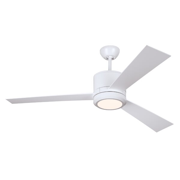 52 Fort Washington 3 Blade LED Ceiling Fan with Remote by Ivy Bronx