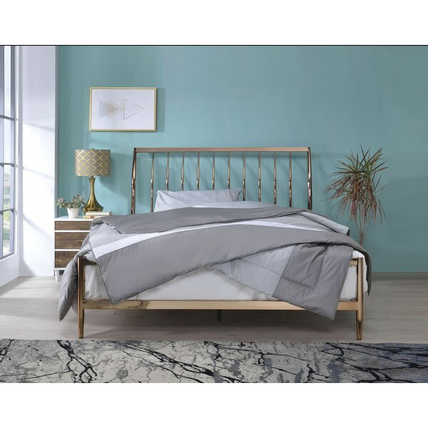 Corinth Queen Sleigh Bed by Everly Quinn