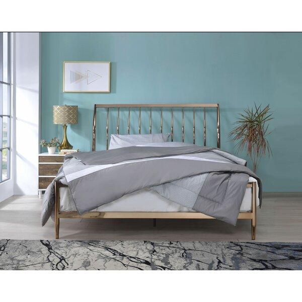 Corinth Queen Sleigh Bed by Everly Quinn Everly Quinn
