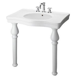 Best Reviews Vitreous China 34 Console Bathroom Sink with Overflow By Barclay