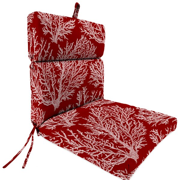 French Edge Indoor/Outdoor Lounge Chair Cushion by Highland Dunes