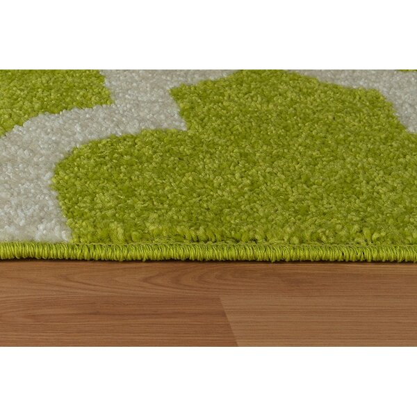 Daley Wool Green Indoor/Outdoor Area Rug by Charlton Home