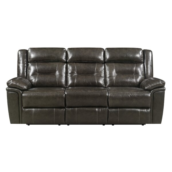 Marlink Leather Reclining Sofa by Red Barrel Studio