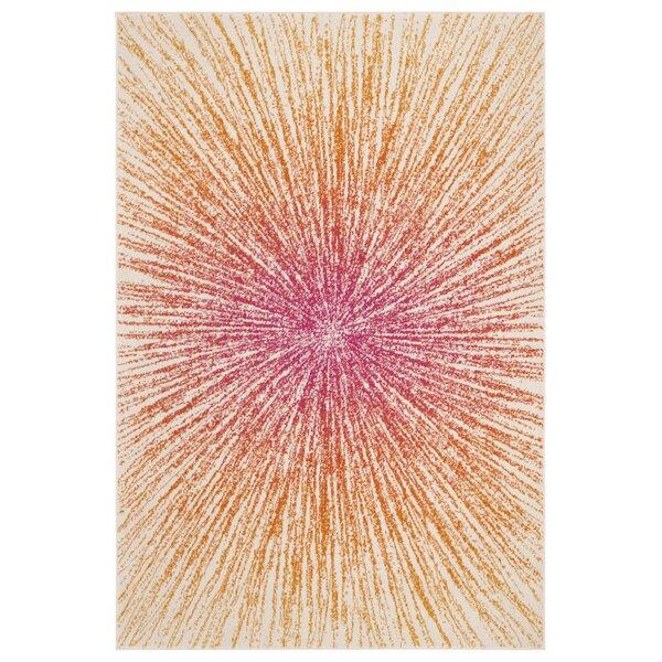 Hannan Fuchsia/Cream Area Rug by Mercury Row