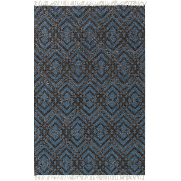 Varley Hand-Woven Blue Area Rug by Wrought Studio