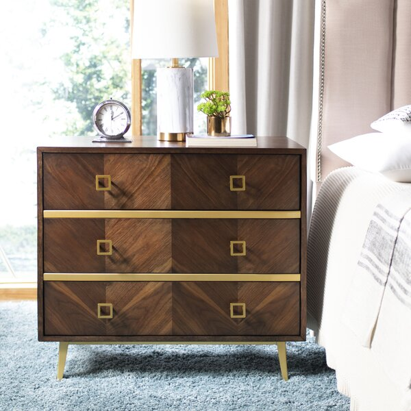 Bronaugh 3 Drawer Chest by Bungalow Rose
