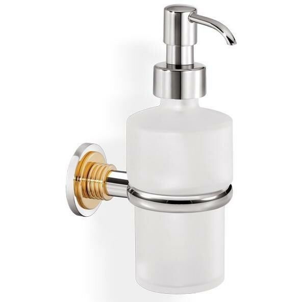 Loughlin Wall Frosted Glass Pump Soap & Lotion Dispenser by Ivy Bronx