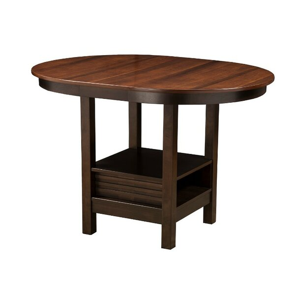 Wilmore Oval Shaped Rubberwood Solid Wood Pub Table by Loon Peak