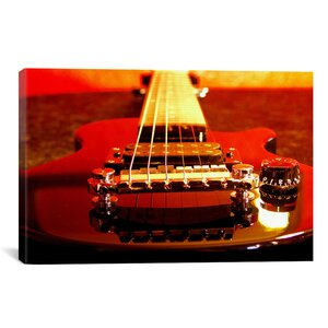 Electric Guitar Photographic Print on Canvas by East Urban Home