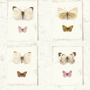 Vintage Butterfly Weathered Rustic Flutter 32.97' x 20.8