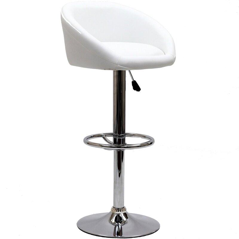 Marshmallow Adjustable Height Swivel Bar Stool