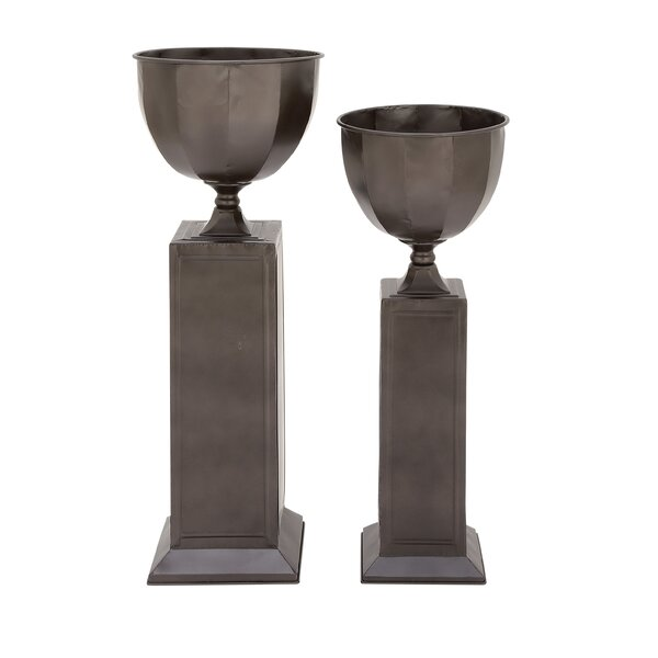 2-Piece Metal Urn Planter Set by Cole & Grey