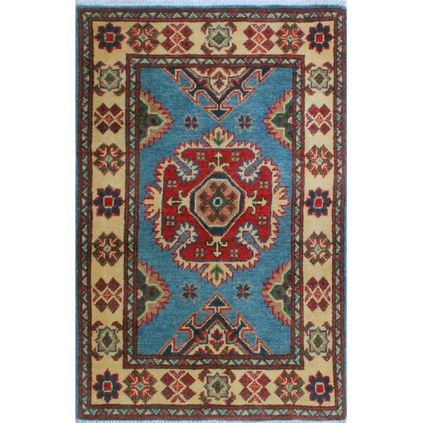 Sharpe Hand-Knotted Wool Red/Blue Area Rug by Loon Peak