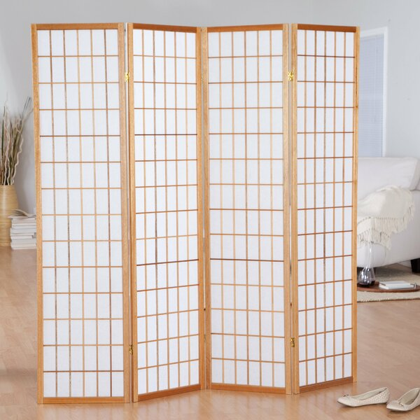 Hoceima Oriental Shoji 4 Panel Room Divider by World Menagerie