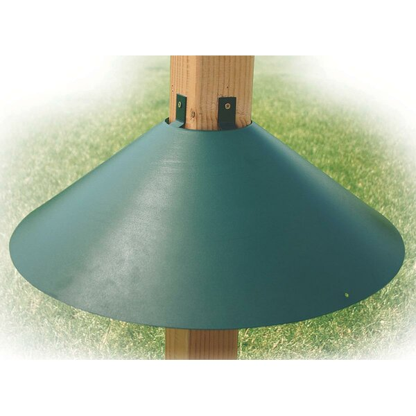 Post Mount Squirrel Baffle in Green by Audubon/Woo