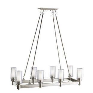 Inexpensive Circolo 8 Light Candle-Style Chandelier By Kichler