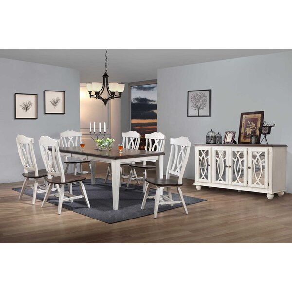 Leslie 8 Piece Extendable Solid Wood Dining Set by Ophelia & Co.