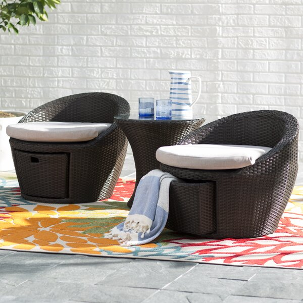 Chappell 3 Piece Conversation Set with Cushions by Zipcode Design