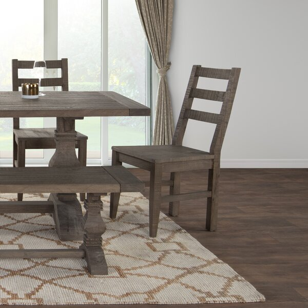 Dumfries Ladder Back Side Chair in Rustic Taupe (Set of 2) by Gracie Oaks Gracie Oaks