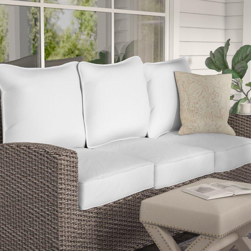 Lark Manor 6 Piece Indoor Outdoor Sunbrella Piped Sofa Cushion Set Reviews