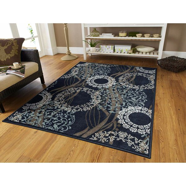 Schroder Black Indoor/Outdoor Area Rug by World Menagerie