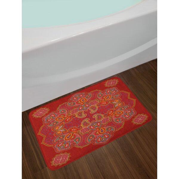 Moroccan Red Mandala Bath Rug by East Urban Home