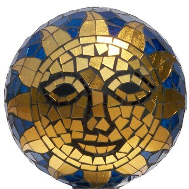 Mosaic Sunface Glass Gazing Globe by Very Cool Stuff