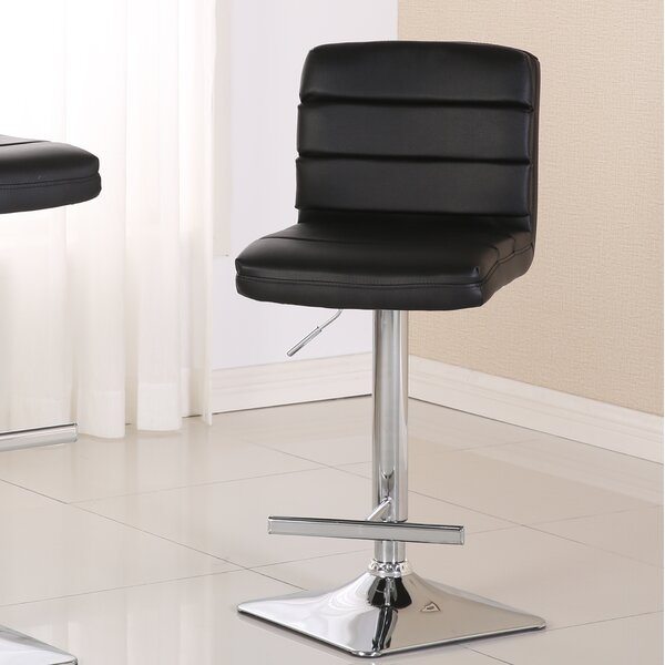 Presque Adjustable Height Swivel Bar Stool (Set of 2) by Orren Ellis